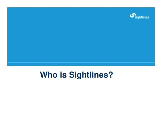 Who is Sightlines?