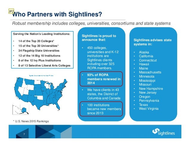7 Who Partners with Sightlines? Robust membership includes colleges, universities, consortiums and state systems Serving t...