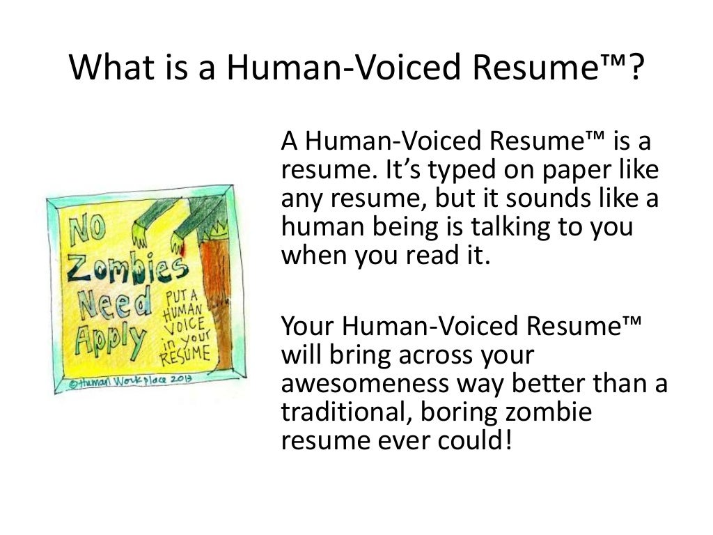 What Is A Human Voiced Resume