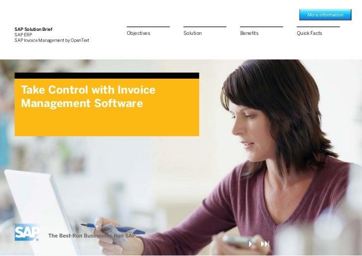 SAP Solution BriefSAP ERP                              Objectives   Solution   Benefits   Quick FactsSAP Invoice Managemen...