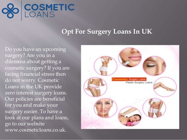 Take Loans For Cosmetic Surgery