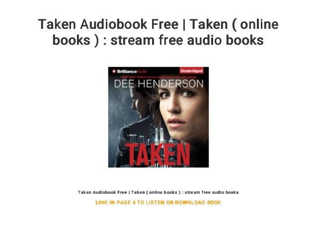 Taken Audiobook Free | Taken ( online books ) : stream free