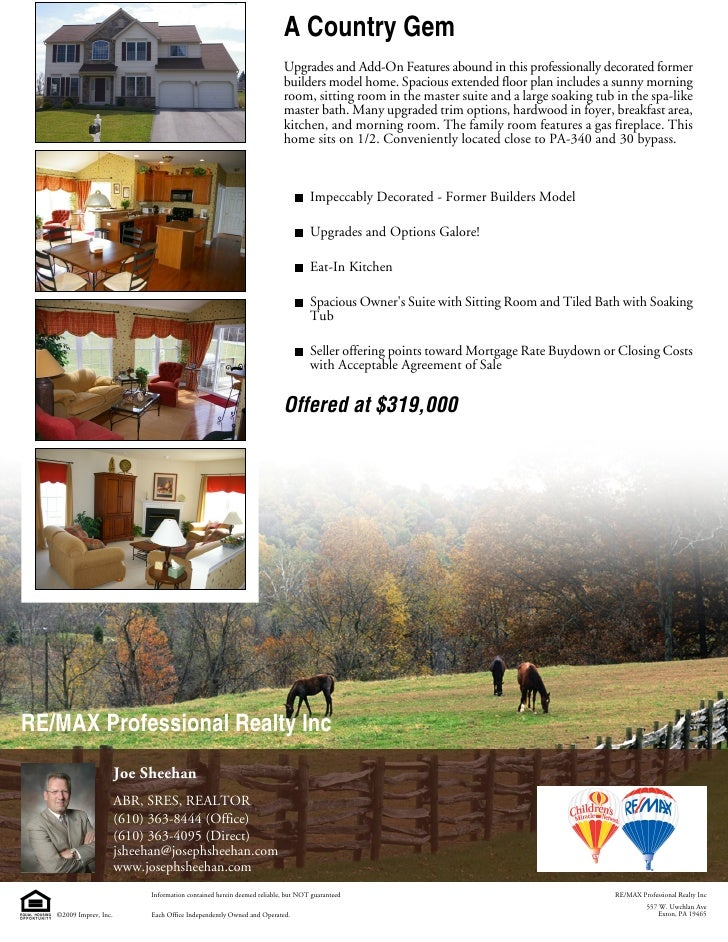 A Country Gem                                                                          Upgrades and Add-On Features abound...