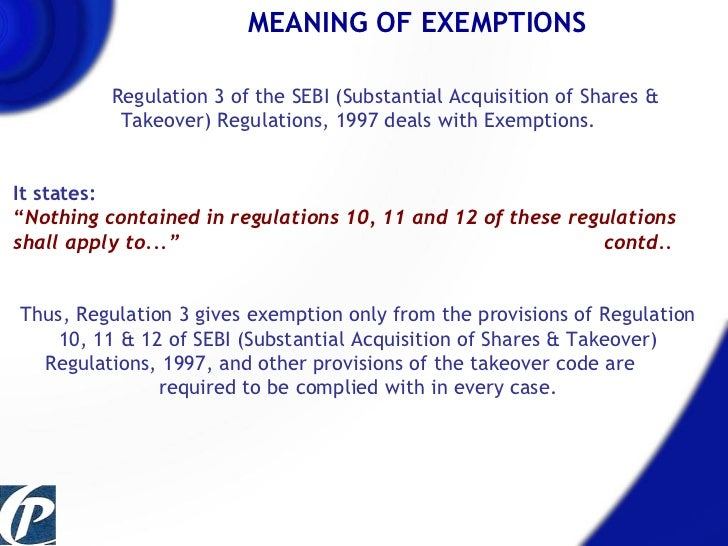 ... 4. MEANING OF EXEMPTIONS ...