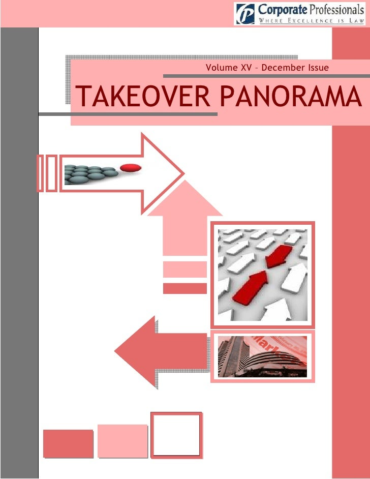 Volume XV – December Issue   TAKEOVER PANORAMA