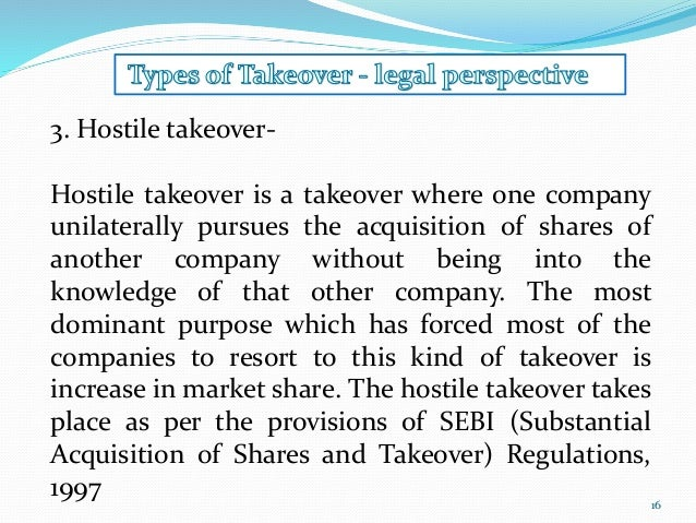 difference between hostile and friendly takeovers Lbos and leveraged cash-outs (first cousins of lbos in which the target firm remains public because a small part of the compensation to selling shareholders is stock in the new, highly leveraged enterprise) rose to popularity for large public firms in the late eighties as a reaction to the hostile takeover activity.