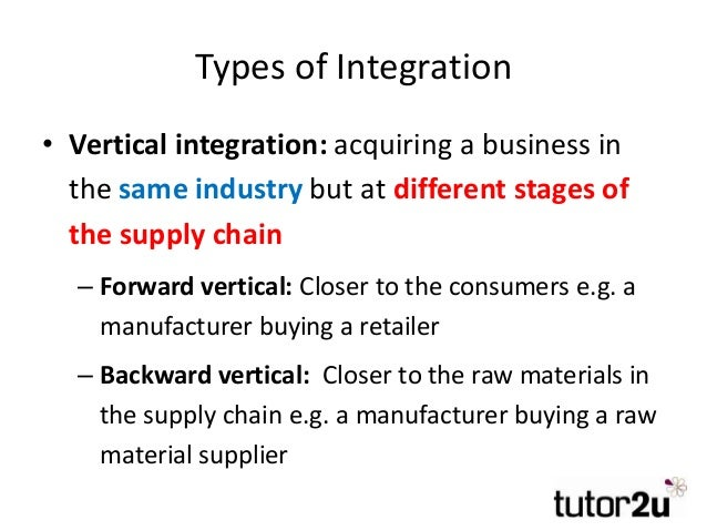 toyota vertical integration Read chapter 3 supply chain integration: the managed flow of goods and information from raw material to final sale also known as a supply chain affects.