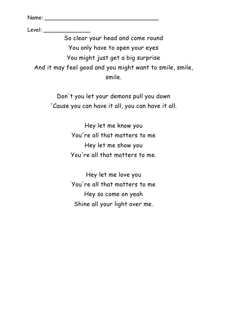 Take that shine lyrics