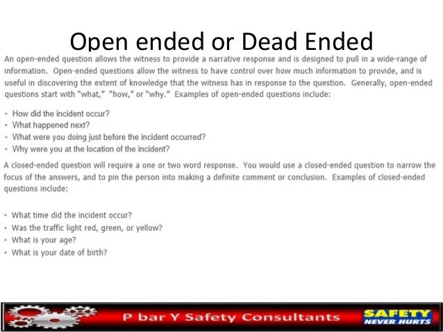 Open ended questions for speed dating