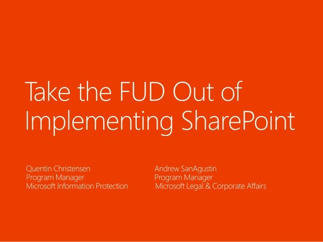 Industry Chatter on Records Management and eDiscovery SharePoint Microsoft