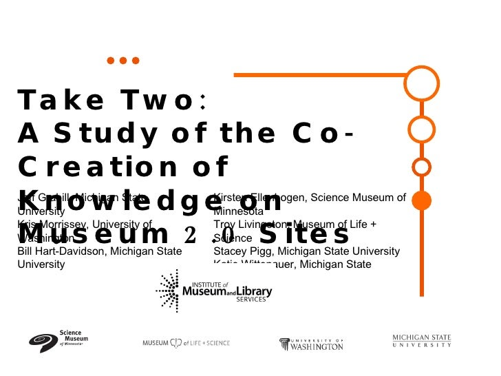 Take Two:  A Study of the Co-Creation of Knowledge on Museum 2.0 Sites  Jeff Grabill, Michigan State University  Kris Morr...