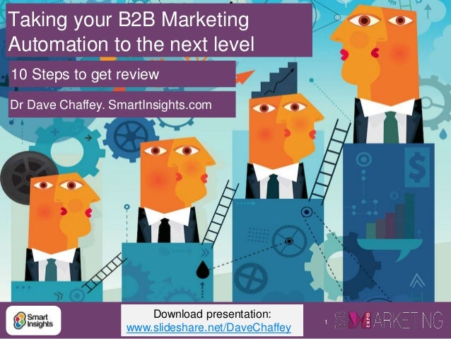 1 Taking your B2B Marketing Automation to the next level Dr Dave Chaffey. SmartInsights.com 10 Steps to get review Downloa...