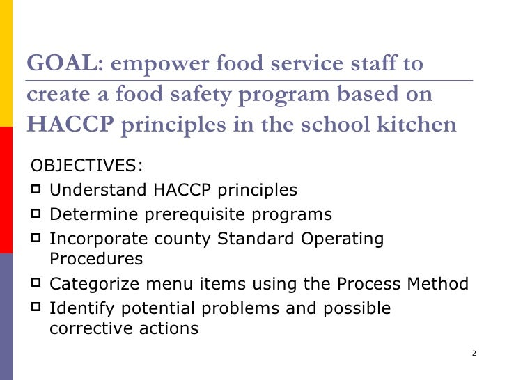 School food safety and haccp workshop - Haccp definition cuisine ...