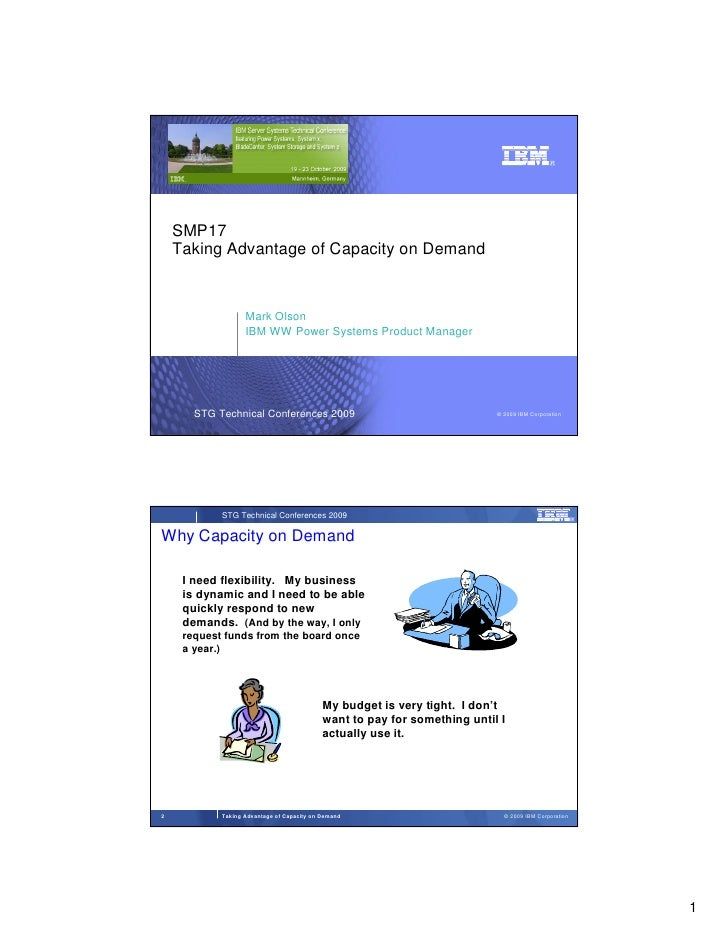 SMP17     Taking Advantage of Capacity on Demand                      Mark Olson                    IBM WW Power Systems P...