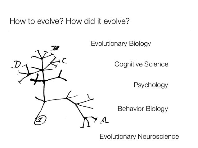 How to evolve? How did it evolve? Evolutionary Biology Cognitive Science Psychology Behavior Biology Evolutionary Neurosci...