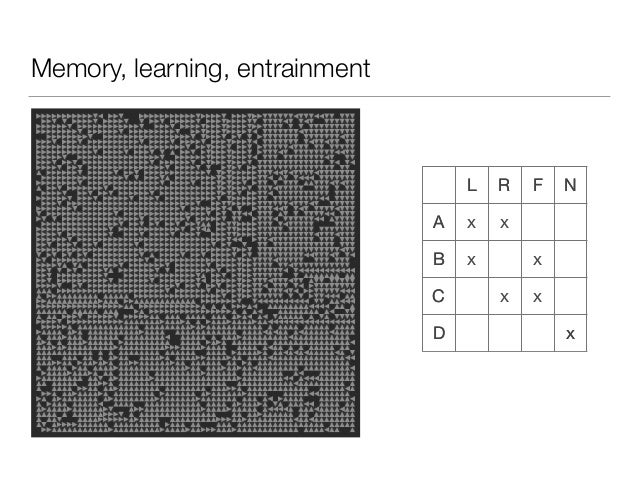 Memory, learning, entrainment L R F N A x B x C x D x L R F N A x B x C x D x