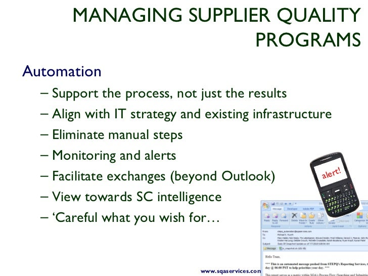 Taking control of supplier quality for Supplier quality manual template