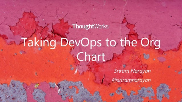 Taking DevOps to the Org Chart Sriram Narayan @sriramnarayan