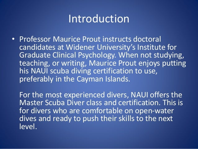 Taking Diving to the Next Level - NAUI Master Diver Certification