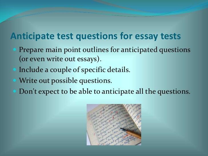 Taking essay tests