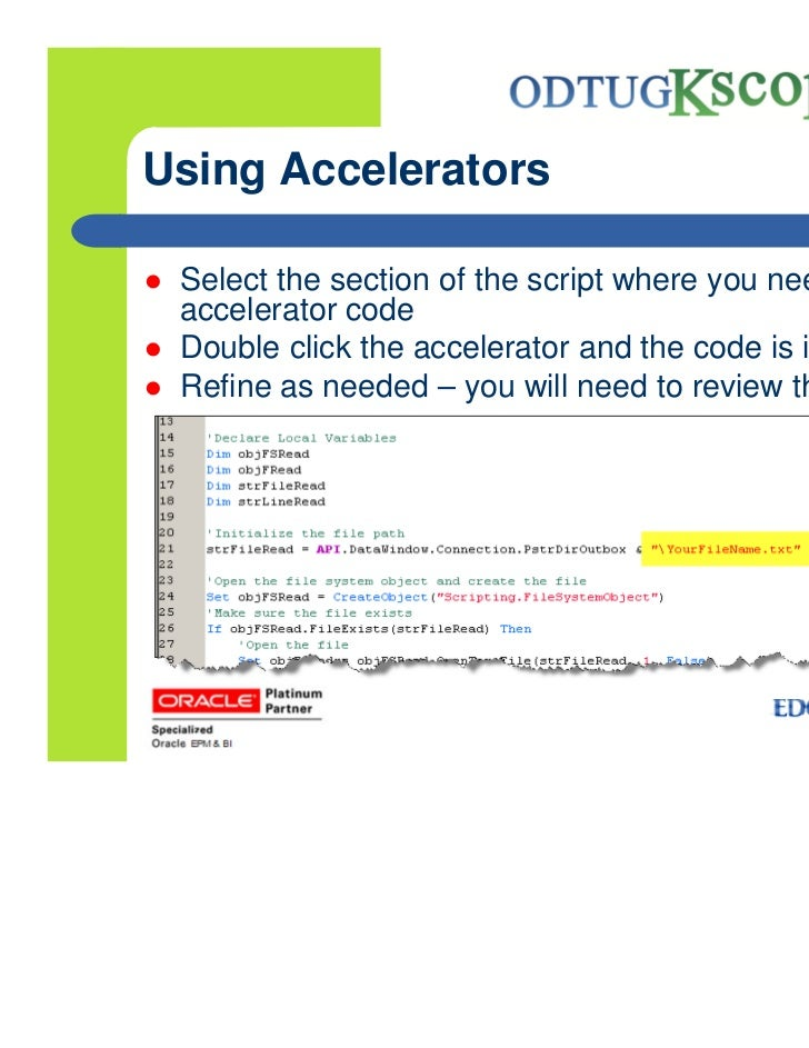 how to add scripting to your application