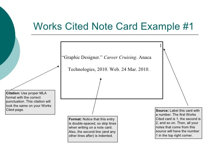 notes works cited page List of full citations in the works cited page at the end of your paper note:  references cited in the text must appear in the works cited conversely, each  entry in.