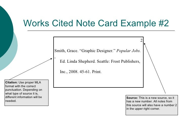Note Card and MLA In-Text Citation Lesson