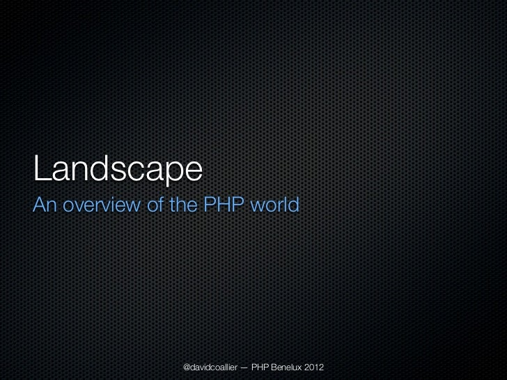 Taking PHP to the next level Slide 3