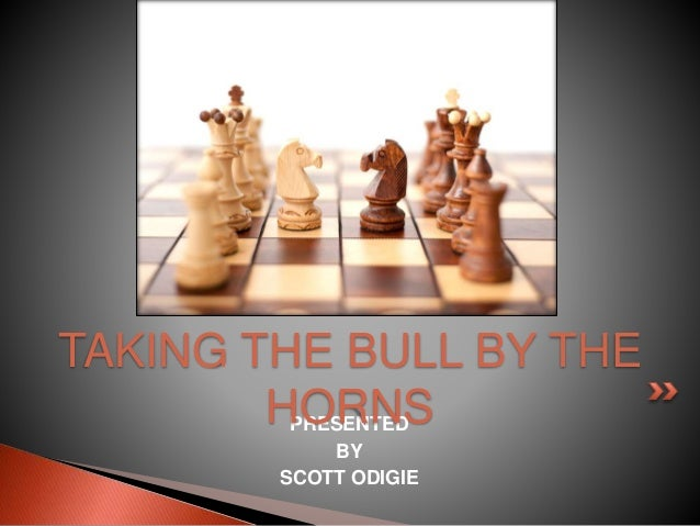 PRESENTED BY SCOTT ODIGIE TAKING THE BULL BY THE HORNS