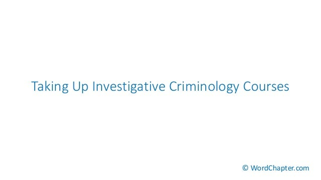 term paper for criminology Essay on criminology: free examples of essays, research and term papers examples of criminology essay topics, questions and thesis satatements.