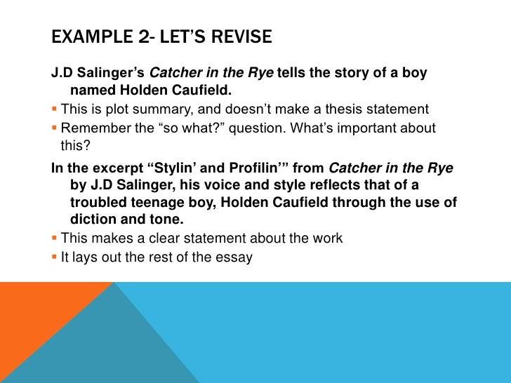 essay catcher in the rye