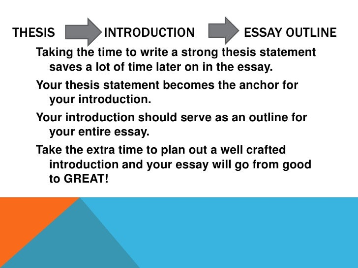 how to write a good thesis statement and outline