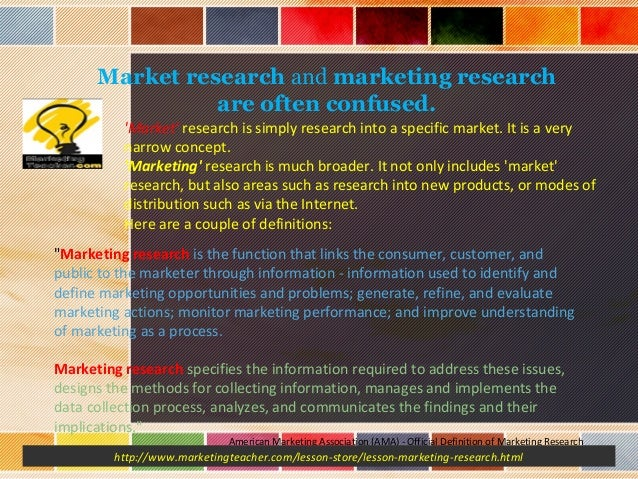 MARKETING RESEARCH BRIEFING FOR SPECIALISED AREA