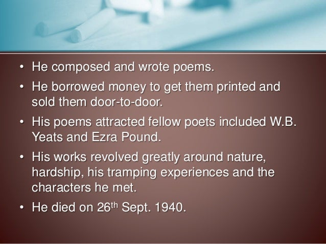 w b yeats poem father and The letters of w b yeats, ed allan wade london: rupert hart-davis, (1954) as a poet, yeats hoped to subvert a language created for the description of the everyday world, in order to embody visions of the extra-terrestrial the mirror of his art must not merely reflect, but kindle, start to burn with images hitherto unseen.