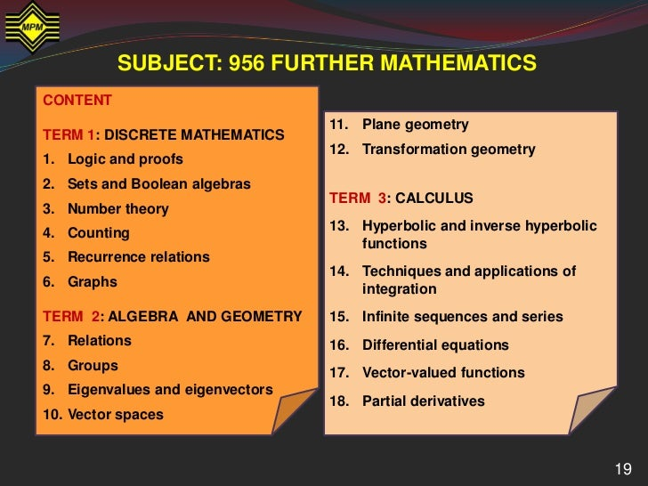 mathematics m coursework The government and the malaysian examinations council shall not be liable for any loss or damage caused by the use of any information obtained from this portal.