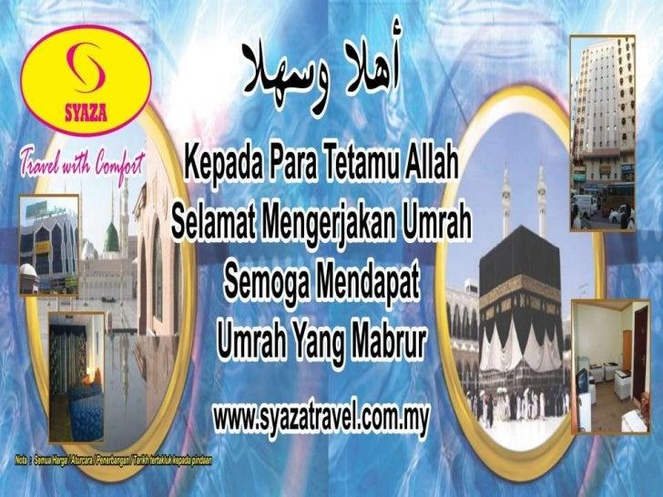 Selamat datang ke Syaza Travel & Tours Sdn.Bhd