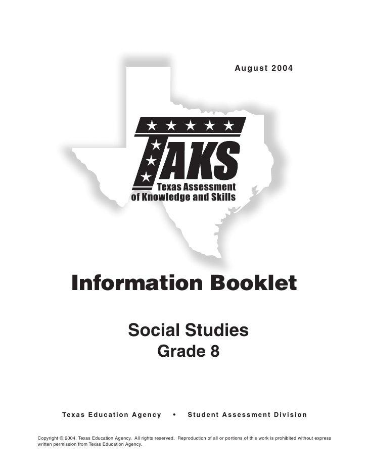 August 2004                                                      Texas Assessment                                         ...