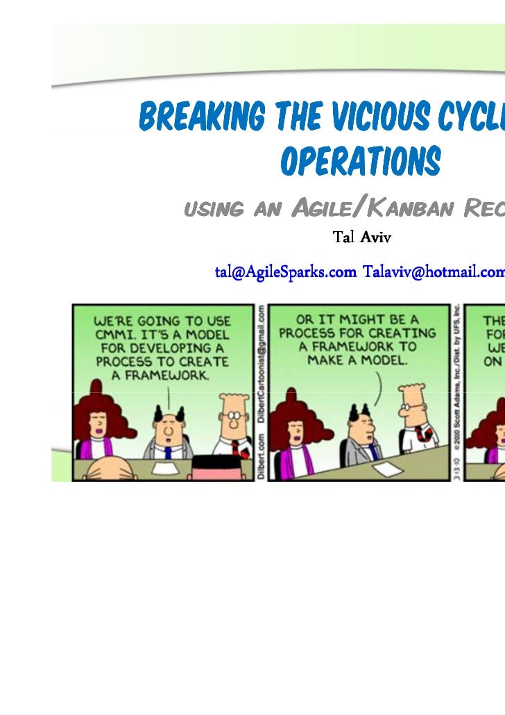 Breaking the Vicious Cycle in IT         Operations   using an Agile/Kanban Recipe                      Tal Aviv     tal@A...