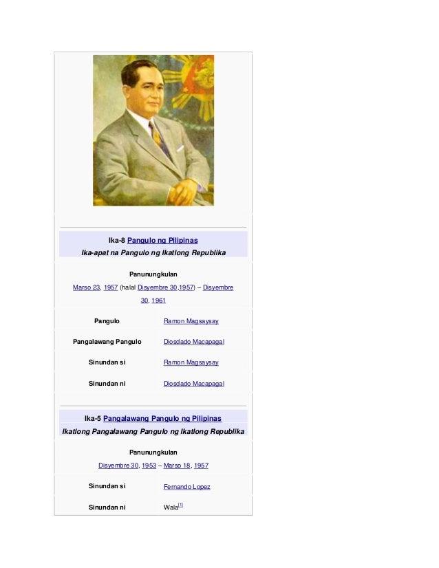 dating presidente ng pilipinas Napakayaman na sana ng pilipinas kung di dahil sa mga  na nagbigay ng sarili nyang pangalan sa iyo at ang iyong ina na si dating presidente cory.