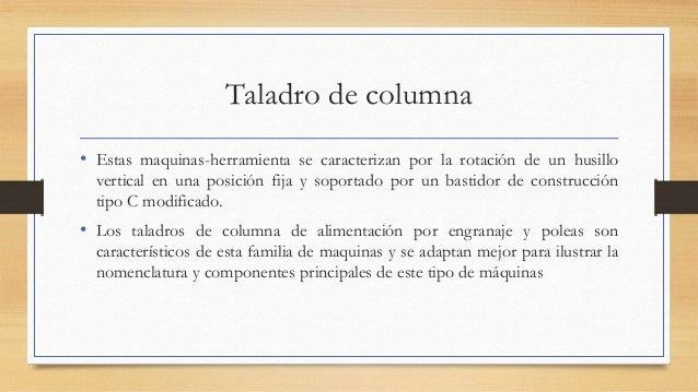 Partes de un taladro y sus funciones - Taladros de columna ...