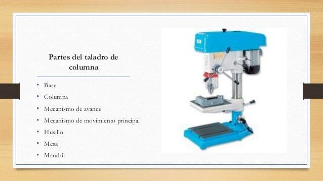 Partes de un taladro y sus funciones - Taladradora de columna ...