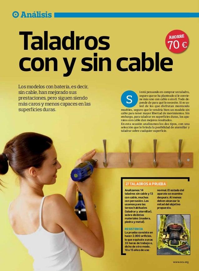 Taladros con y sin cable - Taladros sin cable ...