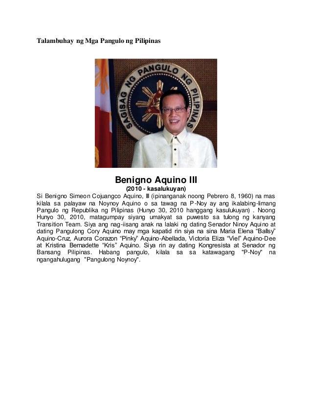 Pilipinas Talambuhay Pangulo Mga Ng Dating Ng