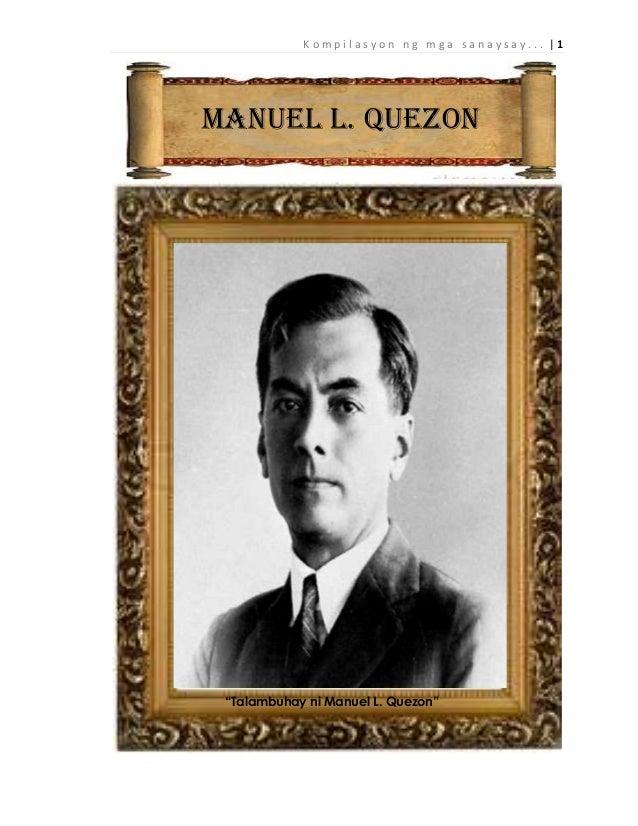 Ταμπανί, ραντεβού pangulong Manuel l. Quezon