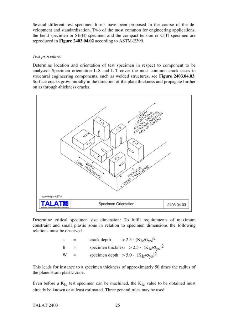 Talat Lecture 2403 Applied Fracture Mechanics