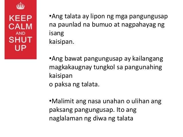 mga talata Istraktura ng mga talata 4 matibay na introduksyon at kongklusyon g proofreading o pagwawastong-basa – binbasa ulit ito upang.