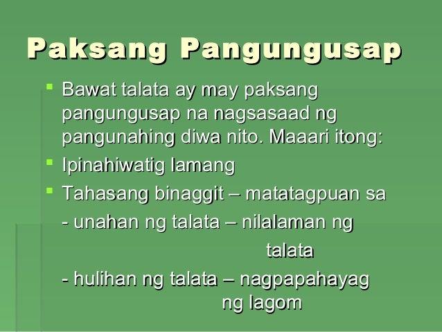 talata na may paksang pangungusap sa unahan gitna at hulihan Ano ang talata at paksang pangungusap --lipon ng mga pangungusap na tumatalakay sa isang pangunahing maari ito makita sa unahansa gitnao hulihan ng.