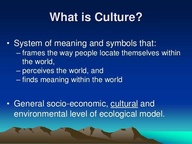 The Power of Beliefs and Importance of Culture