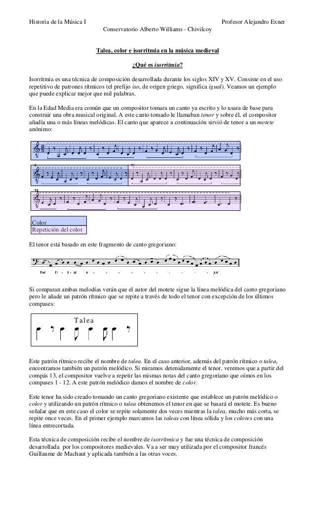 Talea, color e isorritmia en la música medieval