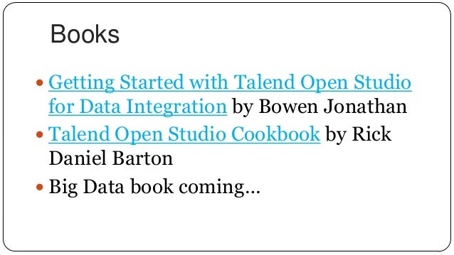 talend open studio cookbook rick barton pdf